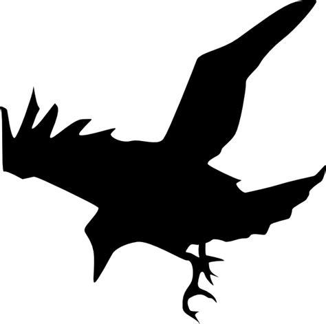 raven silhouette clip art at clker com vector clip art