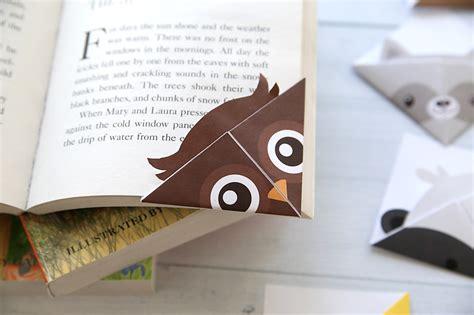 Origami Owl Bookmark - origami owl bookmark diy woodland animals origami