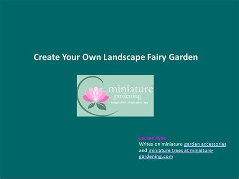 create your own landscape garden authorstream