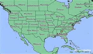 Atlanta On The Map where is atlanta ga where is atlanta ga located in