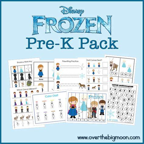 printable frozen worksheets frozen pre k pack expansion