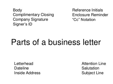 Business Letter Format With Subject Line letter format with subject line letter format 2017
