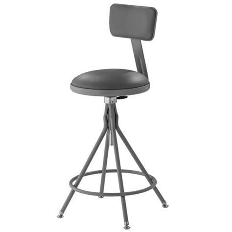 Padded Stool With Backrest by National Seating 24 Quot 28 Quot H Adjustable Height Swivel