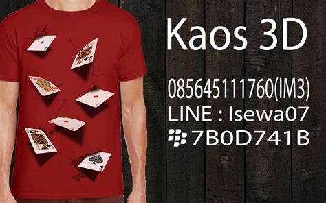 Kaos Import 19 0856 4511 1760 indosat kaos 3d indonesia kaos 3d
