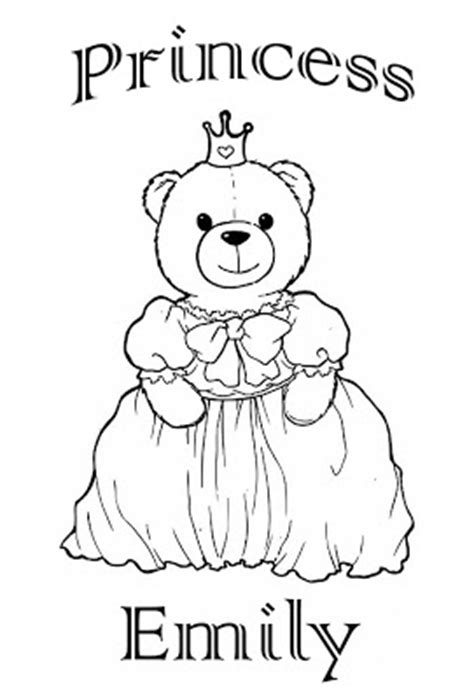 coloring pages with the name emily princess emily story words pics