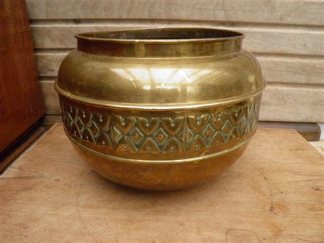 Antique Brass Planter by Vintage Brass Planter Kdm Tiel Brass