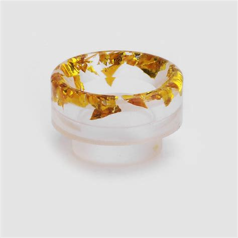 Acrylic 810 Driptip Wide Bore gold sequins acrylic 11mm 810 wide bore drip tip for rda rta atomizer