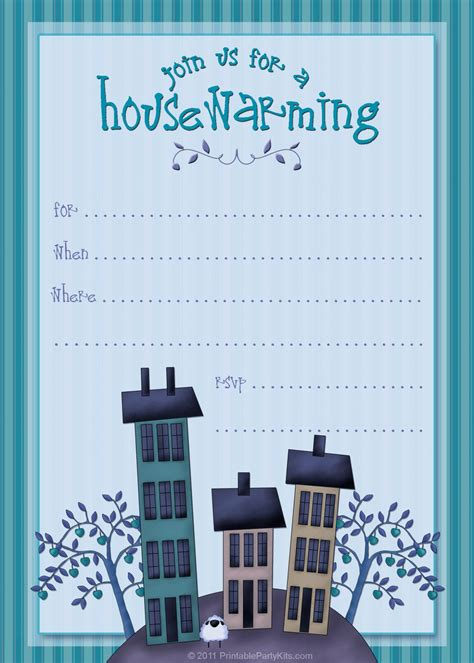 Free Printable Housewarming Party Invitations Printable Party Kits Housewarming Invitation Template