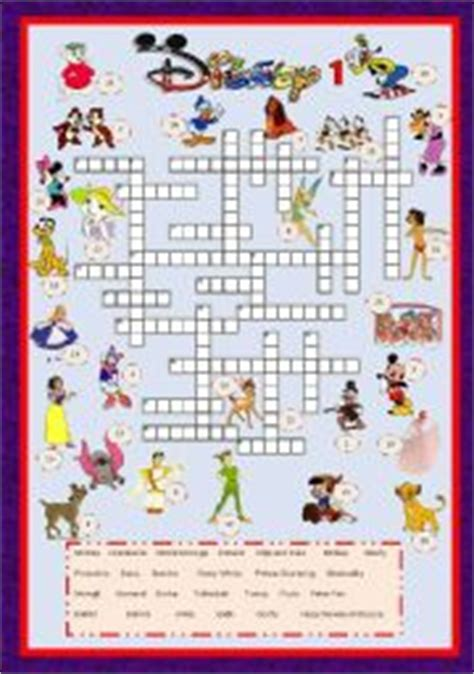 1982 disney film xword cartoon series 3 disney characters crossword 1 key