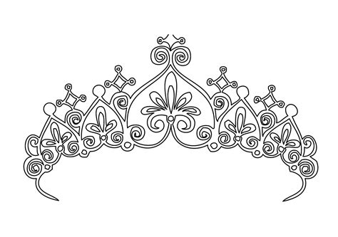coloring page crown princess tiara coloring pages