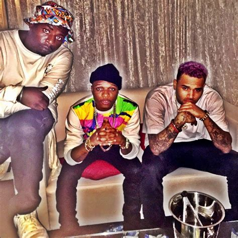 is wizkid the inspiration behind chris browns new haircut photos wizkid and chris brown in south africa nigerian