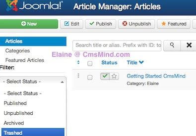 joomla tutorial article manager joomla 3 0 tutorial how to empty the trash in article