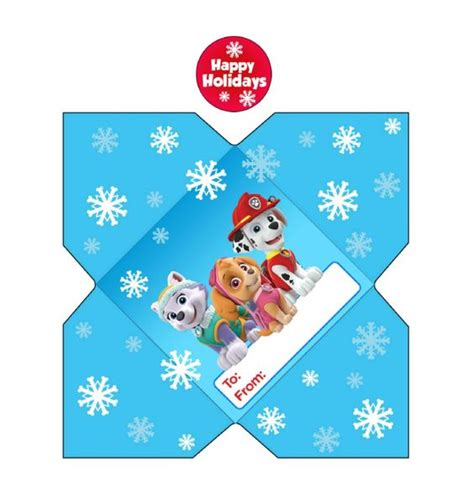 printable cookie envelope paw patrol envelopes and printables on pinterest