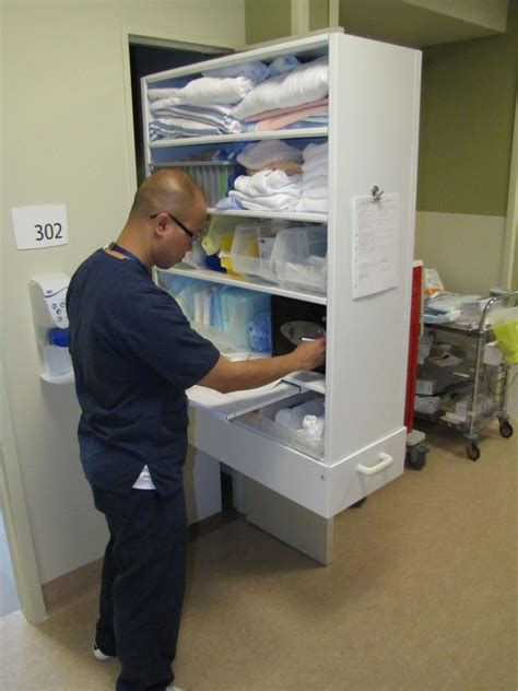 medical supply storage cabinets patient care supplies storage donnegan systems inc