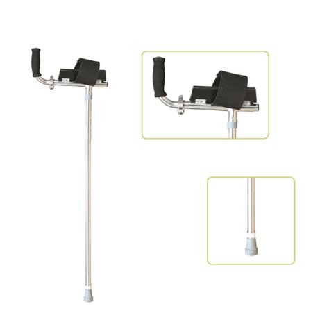 comfortable crutches height adjustable lightweight walking forearm crutch with