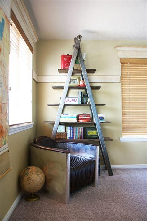 bücherregal modern treppe idee diy