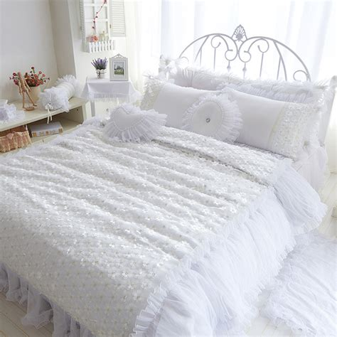 Bed Cover Wedding Import 3 aliexpress buy cotton luxury beautiful princess