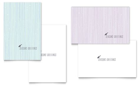 microsoft greeting card template snow bird greeting card template word publisher