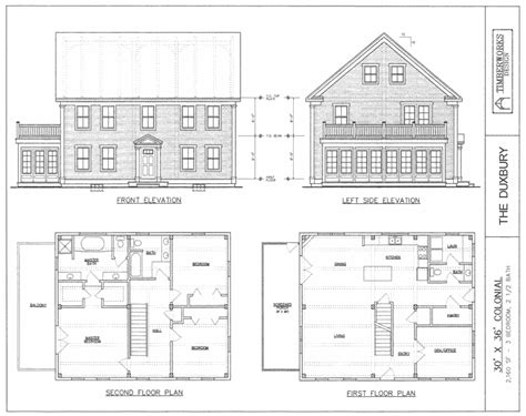 colonial house designs and floor plans post beam house plans and timber frame drawing packages
