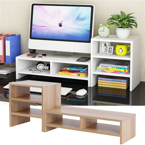 computer monitor stand desk 3 layer shelf table laptop
