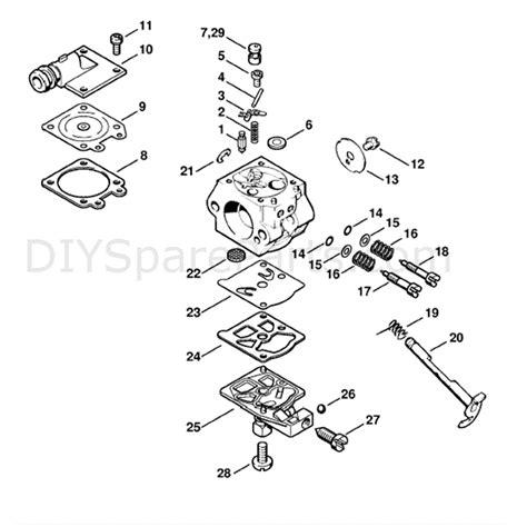 stihl chainsaw carburetor diagram stihl ms 260 chainsaw ms260 d parts diagram carburetor