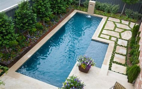 small lap pools spruce up your small backyard with a swimming pool 19