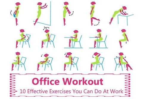 8 Exercise You Can Do At Your Workstation by Pin By Fitness Motivation Health On Fitness Health