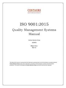iso 9001 2015 quality manual preview