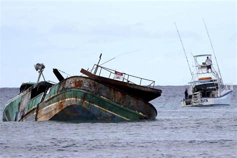 hawaiian word for boat fishing boat wreck off hawaii coast creating problems