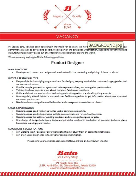 lowongan kerja design tracer bata product designer politeknik atk yogyakarta