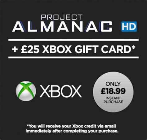 Free Xbox Gift Cards Uk - project almanac hd movie 163 25 xbox gift card 163 6 xbox store credit for free and