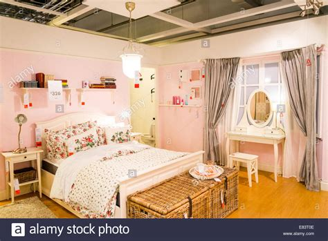ikea bedroom displays display bedroom in ikea london england uk stock photo
