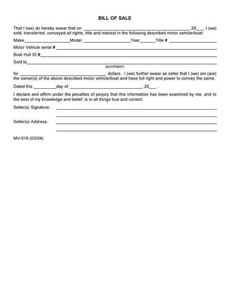 various motor vehicle bill of sale design templates 94xrocks