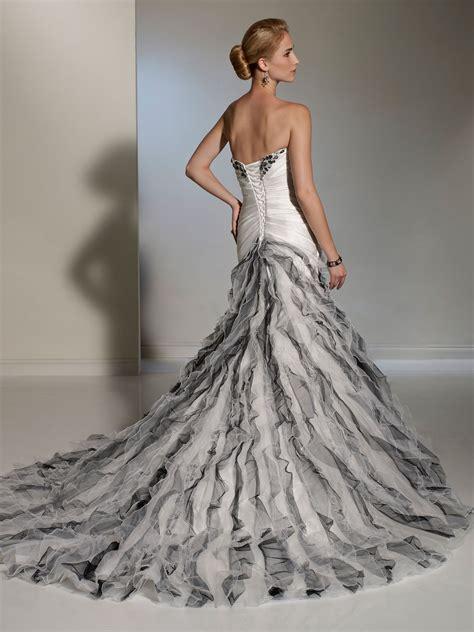 Dress Grey Ks white silver fluted skirt wedding dress