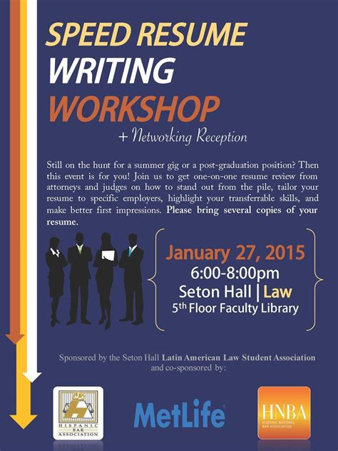 Resume Writing Workshop by Hispanic Bar Association Of New Jersey Speed Resume