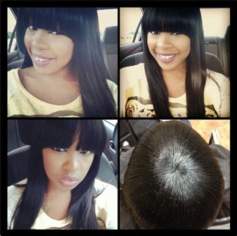 sewn in front bangs for black women sew ins with bangs myspace images frompo