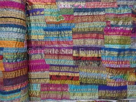 Kantha Quilt How To Make by Brocade Sari Border Patchwork Kantha Quilt At Rs 1500