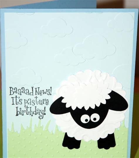 Sheep Birthday Card Items Similar To Belated Birthday Card Handmade Sheep On Etsy