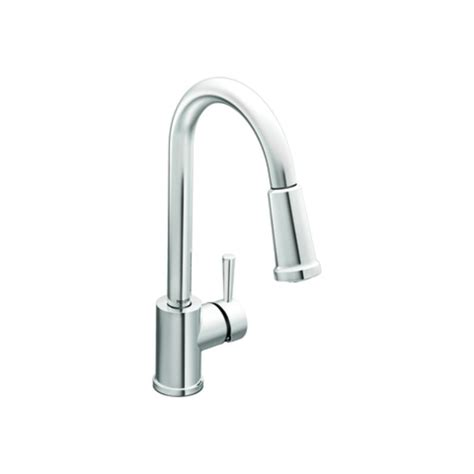 Moen Single Handle Pullout Kitchen Faucet Faucet Com 7175 In Chrome By Moen
