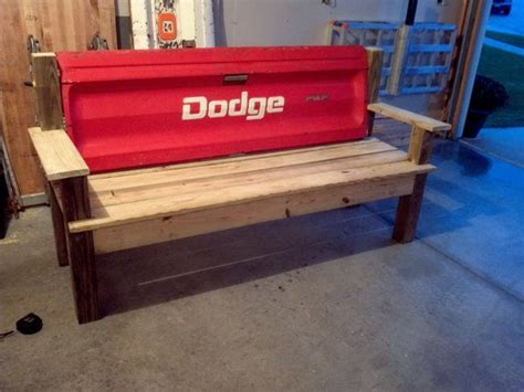 truck tailgate bench plans x benches monogrammed with pillow top cushion design