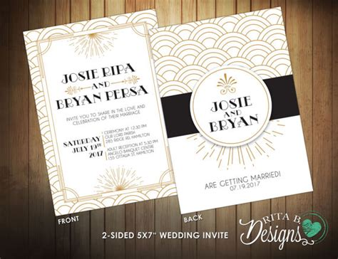 Wedding Invitations Gatsby by Great Gatsby Wedding Invitations Www Pixshark