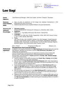 Sle Resume Warehouse by Business Intelligence Architect Resume Sales Architect Lewesmr