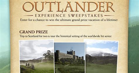 Sweepstakes Store - starz outlander store experience sweepstakes