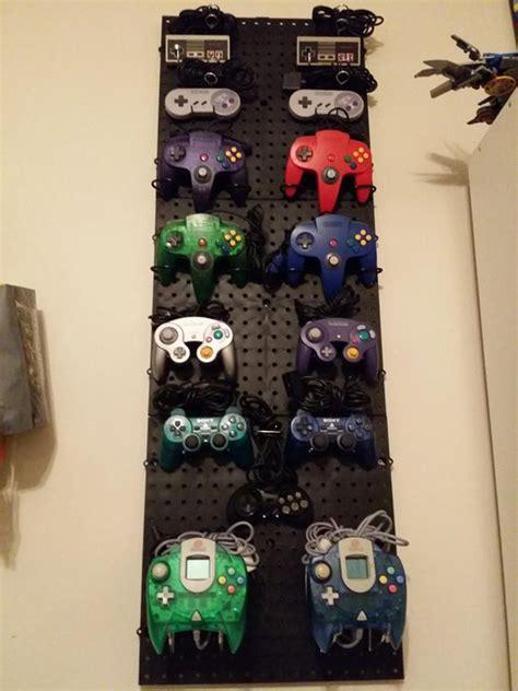 cool ways  video game controller storage homemydesign