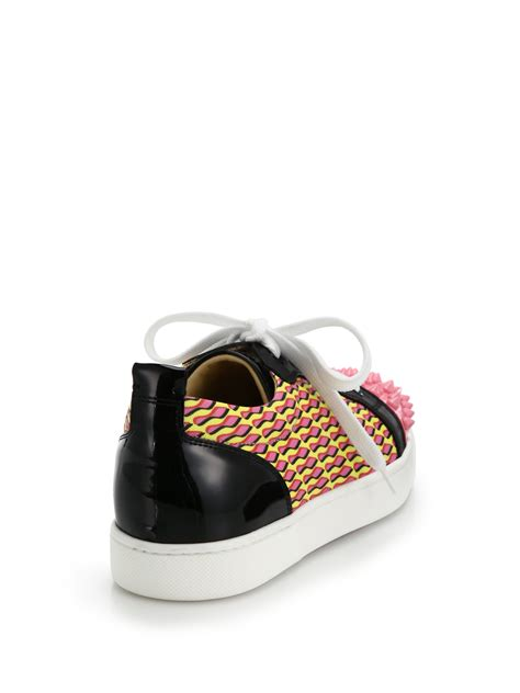 christian louboutin sneakers lyst christian louboutin louis jr studded leather