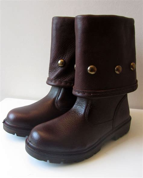 battle boots brown with studs