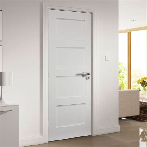 Deanta Coventry White Primed Shaker Door Deanta Panel Doors