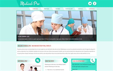 bootstrap templates for hospital medical pro responsive template business corporate