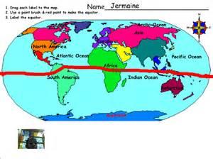 Blank world map with equator free printable world map