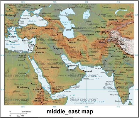 middle east map landforms partial posts 187 middle east